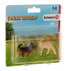 Schleich Herder pup&lammetje