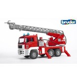 Bruder Bruder MAN TGA brandweer ladderwagen met pomp en licht en ge
