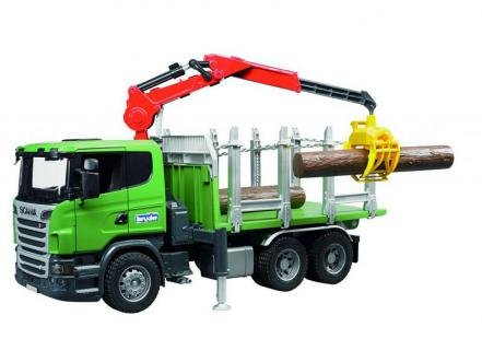 Bruder Bruder Scania R-series Timber truck with loading crane and 3