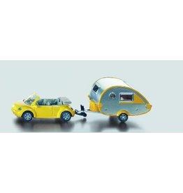 Siku blister serie 16 VW beetle met caravan