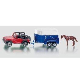 Siku Siku blister serie 16 Jeep met paardenaanhanger
