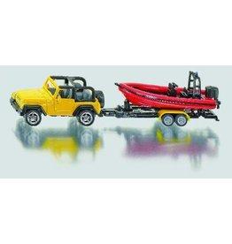 Siku blister serie 16 Wranger Jeep met boot
