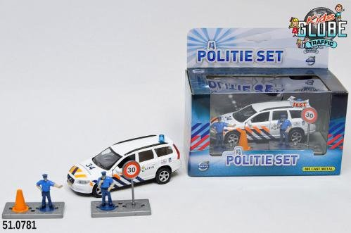 Kids Globe Kids Globe Politie Die Cast Volvo V70 met accesoires L/G