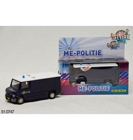 Kids Globe Politie Die Cast pull back ME auto met L/G