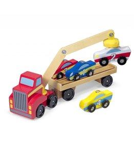 Melissa & Doug Melissa & Doug Houten Transporter met Auto's