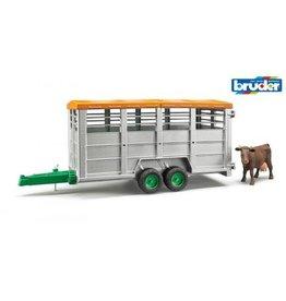 Bruder Bruder Veetransportaanhanger met koe