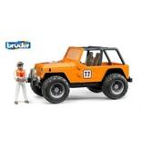Bruder Bruder Jeep Cross Country oranje met chauffeur