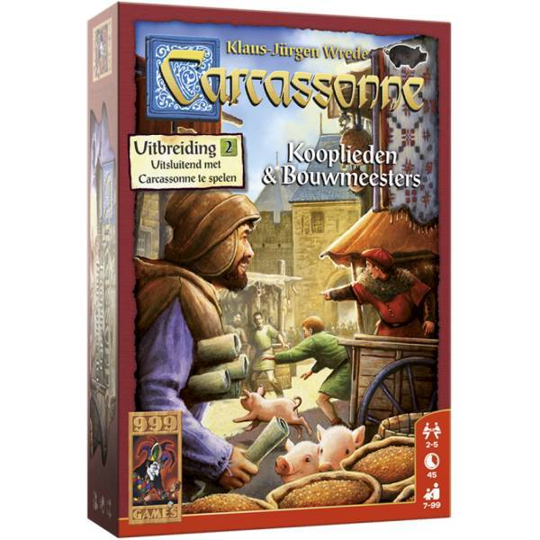 999 Games Carcassonne Uitbr. Kooplieden en Bouwmeesters