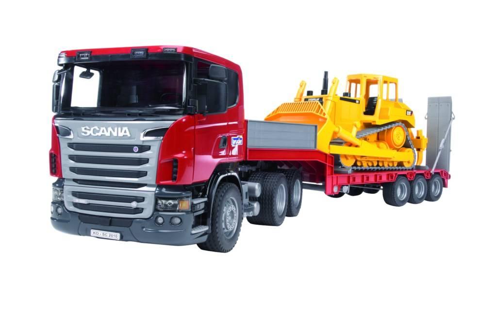 Bruder Bruder 035556 Scania met oplegger en CAT bulldozer
