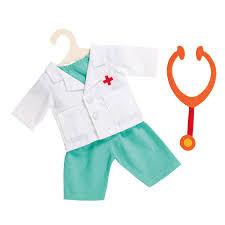 Helless HL1653 Poppen Doktersoutfit met Stethoscoop