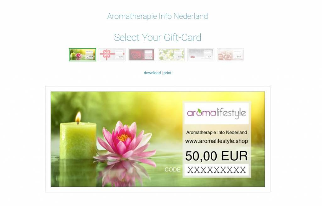 Digitale cadeaubon 50 euro