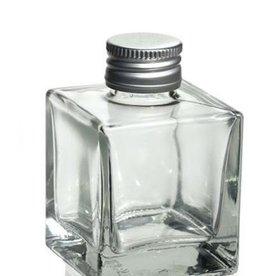 glazen flacon sissi  vierkant100 ml.