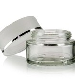 Luxe glazen pot Silverline 50 ml.
