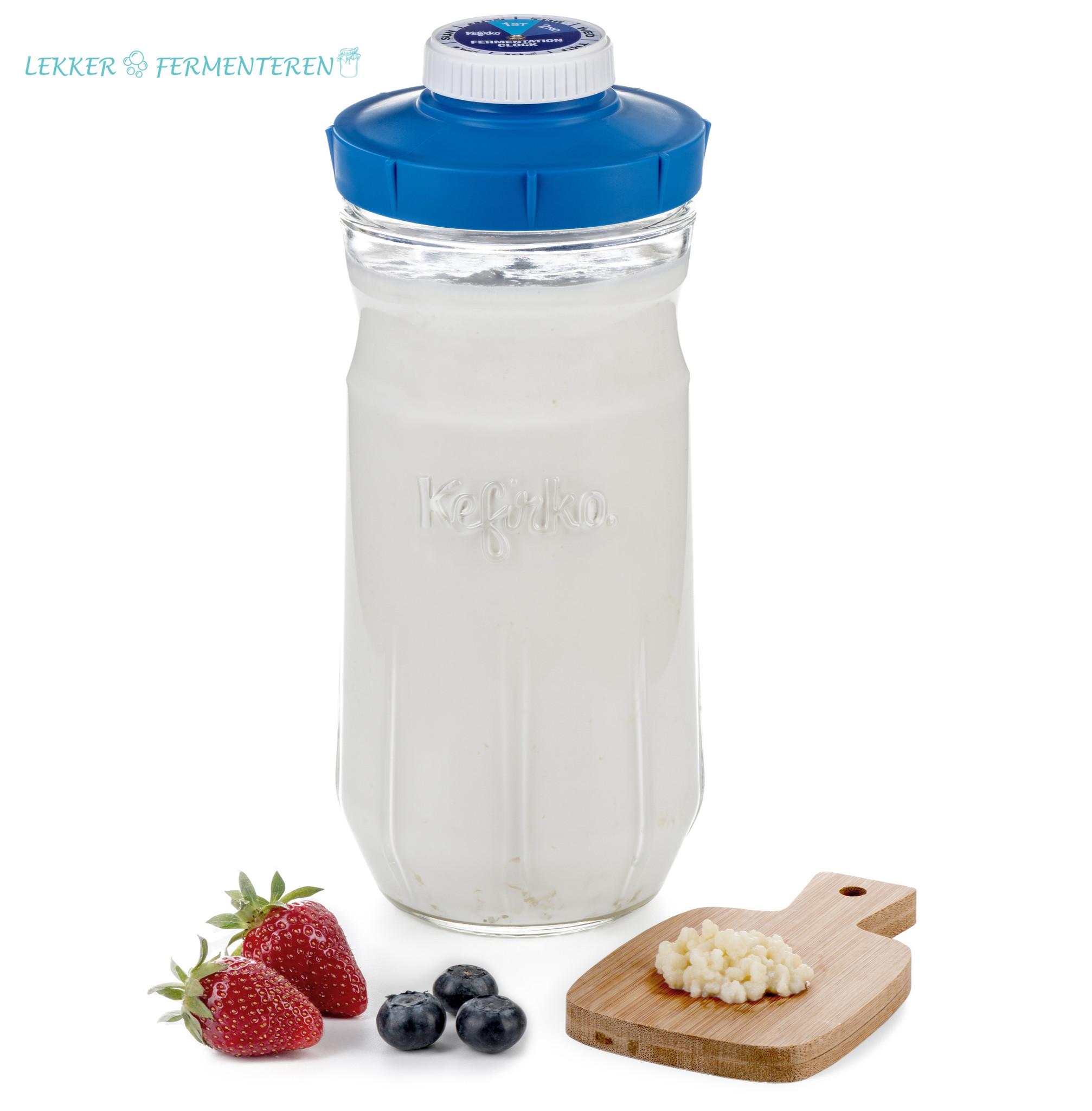 Kefirko glas voor tweede fermentatie 1400 ml.