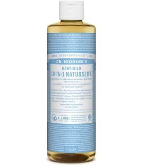 Dr.Bronner's vloeibare zeep babymild 475 ml.
