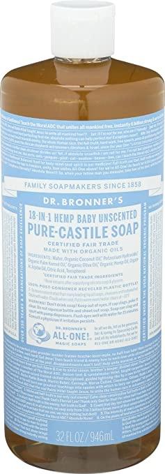 Dr.Bronner's vloeibare zeep babymild 945 ml.