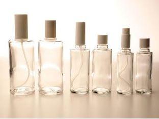 Ronde glas fles 50 ml., met sprayverstuiver