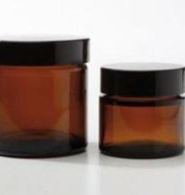 glazen pot bruin 120 ml.