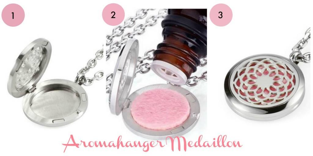 Aroma medaillon 001  - Kruinchakra 25 mm.