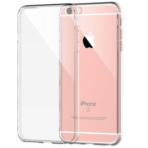 Forza Refurbished Forza iPhone 6/6S Hoes transparant + tempered glass