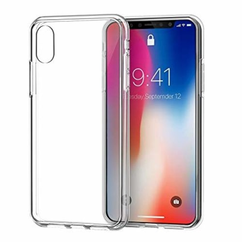 Forza Refurbished Forza iPhone X Transparante hoes + tempered glass