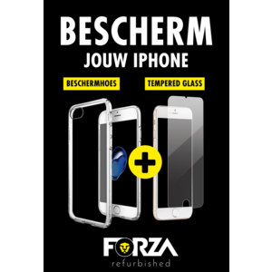 Forza iPhone XR Transparante hoes + tempered glass