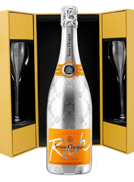 Veuve Clicquot Ponsardin Veuve Clicquot Ponsardin Rich Luxe coffret + 2 flutes 75CL