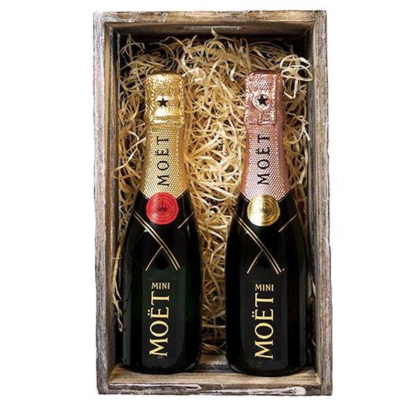 Moët & Chandon Piccolo Geschenkkist Brut & Rosé x20CL