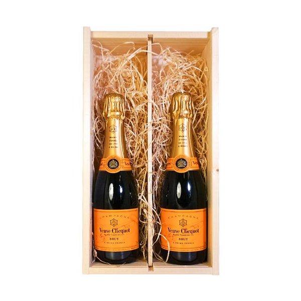 Veuve Clicquot Ponsardin Geschenkset Houten Kist 2x37,5CL