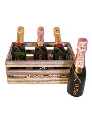 Moët & Chandon Geschenkkratje 3 x Mini Brut & Rosé 3x20CL
