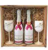 Moët & Chandon Moët & Chandon Ice Rosé in Geschenkkist 2x 75CL + 2 Glazen