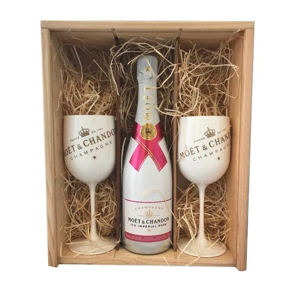 Moët & Chandon Ice Rosé Gift + 2 Ice Glazen