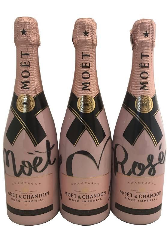 Moët & Chandon Moët & Chandon Rosé 75CL Living Ties Bottle (LIMITED EDITION!!)