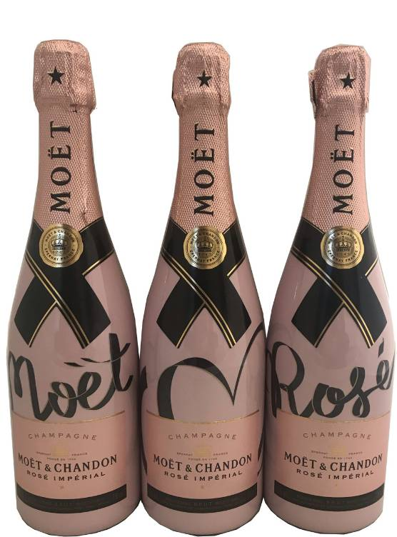 Moët & Chandon Moët & Chandon Rosé 75CL Living Ties Geschenkkist + 2 Ice Glazen