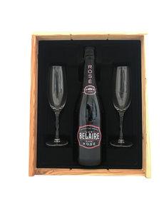 Luc Belaire Rosé Rare Geschenkkist + 2 flutes