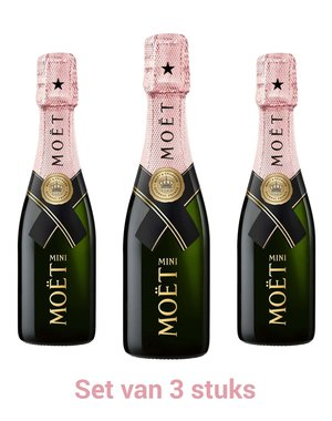 Moët & Chandon Impérial Brut Rosé Piccolo set 3x20CL