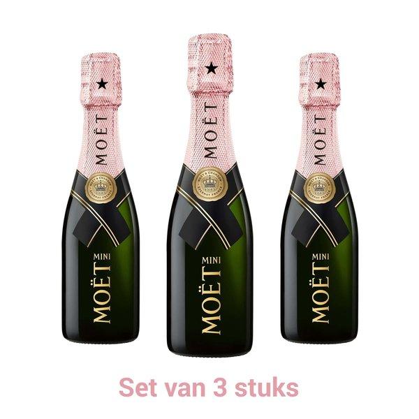 Moët & Chandon Moët & Chandon Impérial Brut Rosé Piccolo set 3x20CL