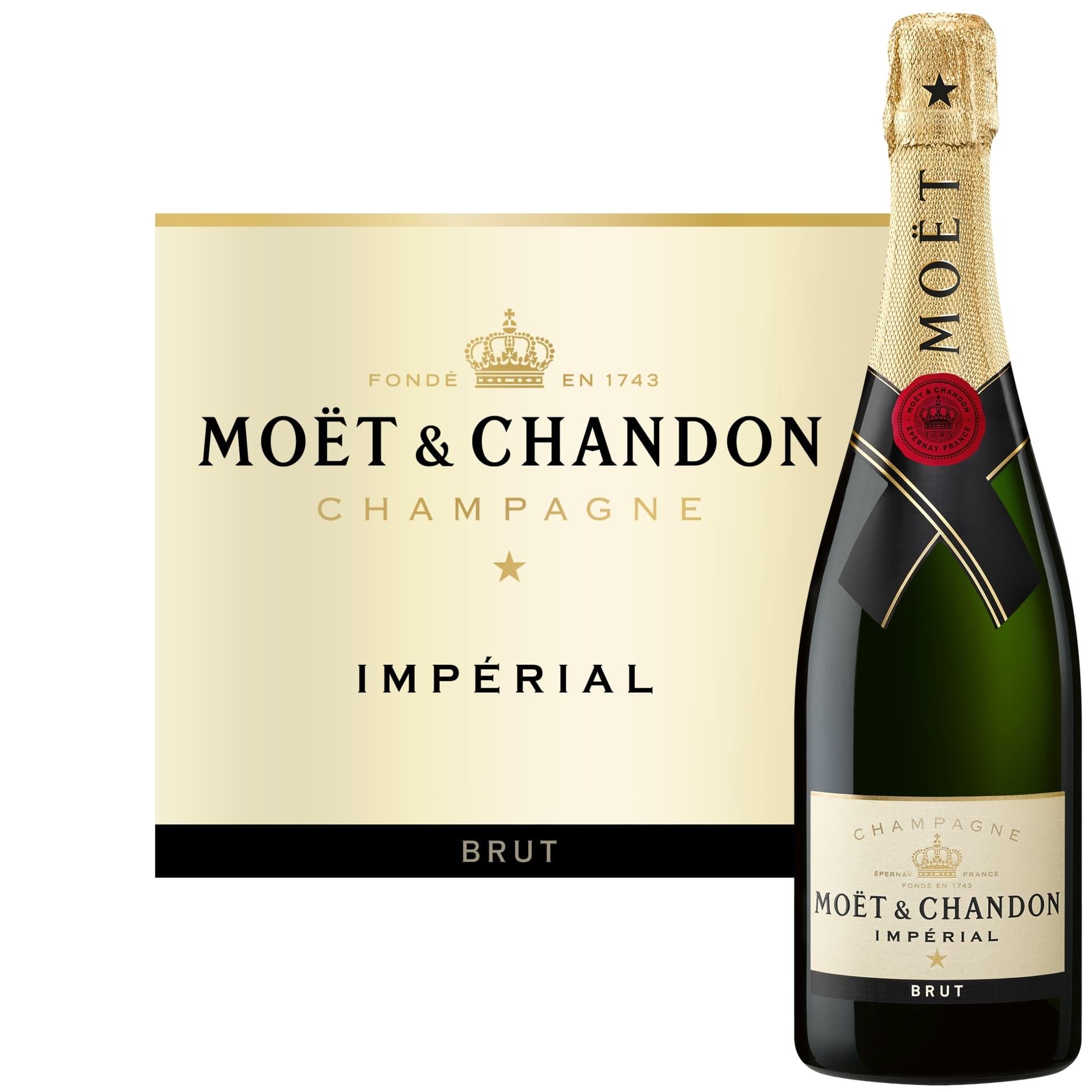 Moët & Chandon Moët & Chandon Brut Impérial in Geschenkkist + 2 flutes 75CL