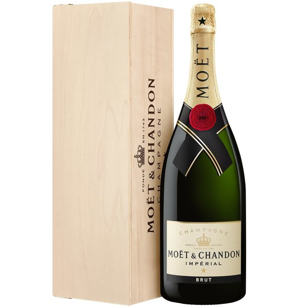 Moët & Chandon Impérial Magnum in houten case 150CL