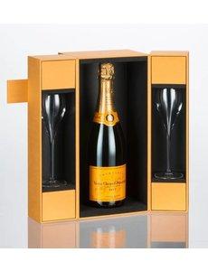 Veuve Clicquot  Brut Luxe coffret + 2 flutes 75CL