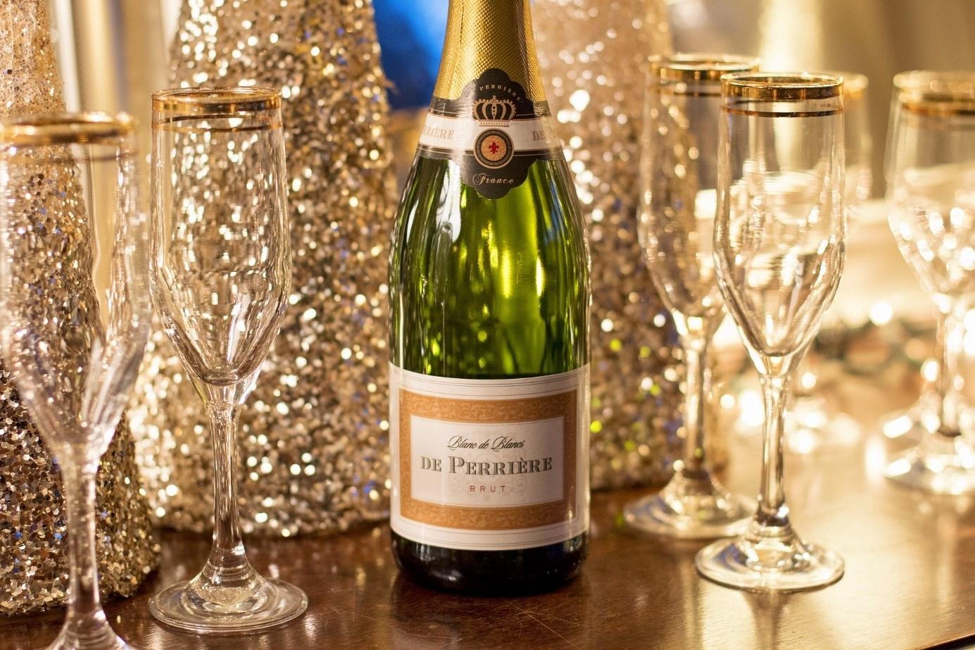 3x Champagne kerstcadeau