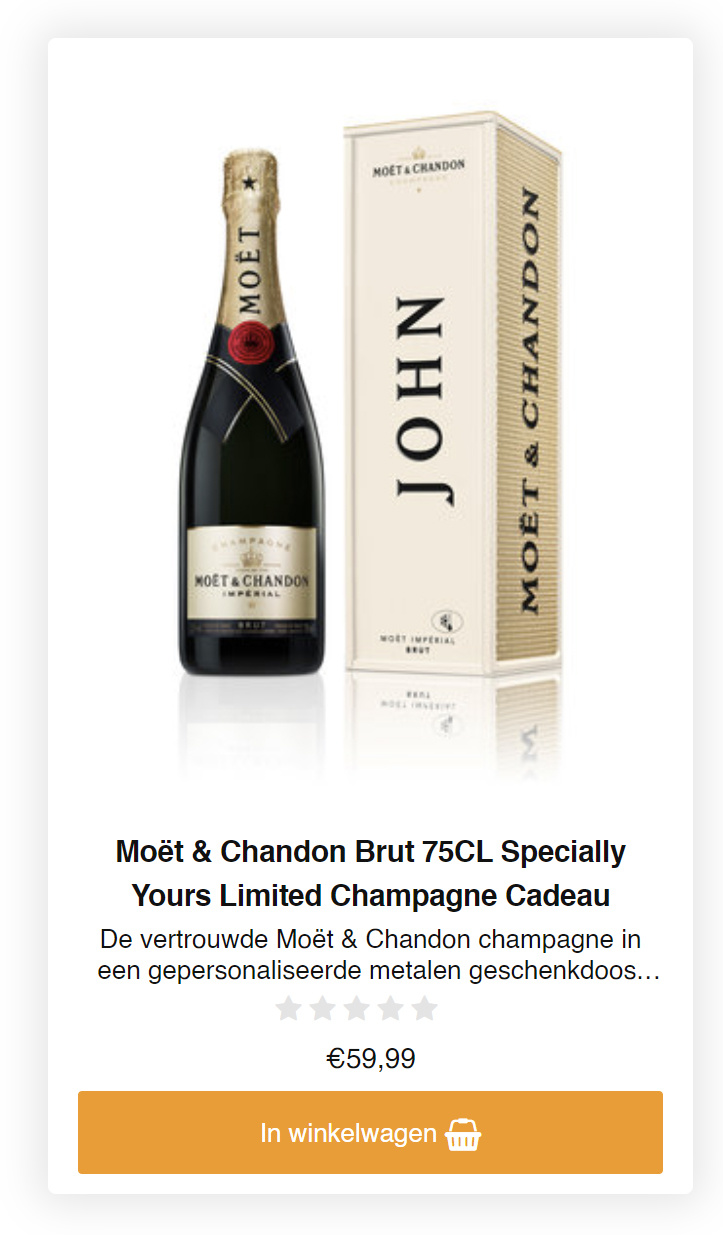 Moet & chandon brut(specially yours