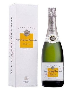 Veuve Clicquot Ponsardin Demi Sec design in giftbox 75CL