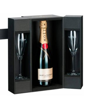 必须&Chandon BrutImpérial在豪华的Coffret + 2槽75CL