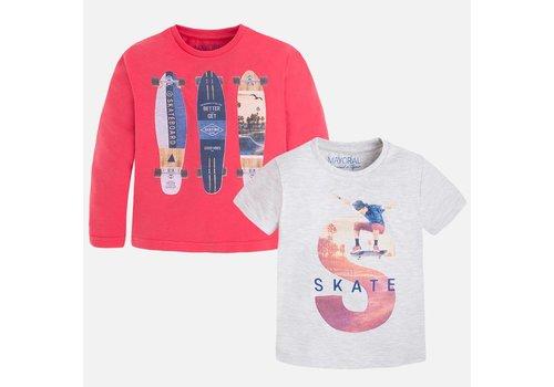 Mayoral bone sweater and shirt skate