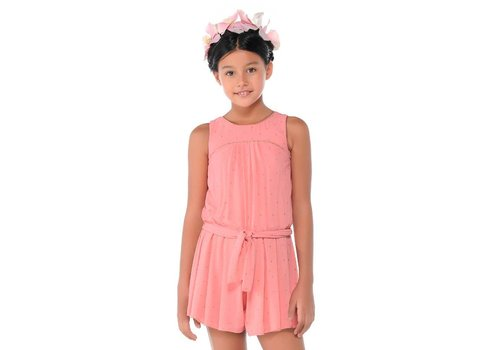 Mayoral Sleeveless Playsuit with Sash Girl