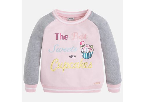 Mayoral Fleece Sweater Girl Print