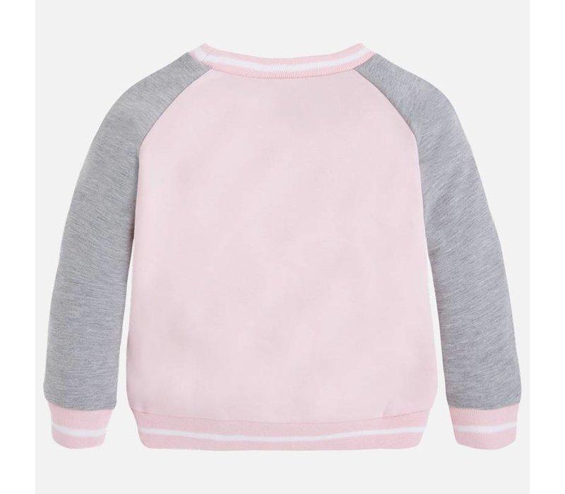 Fleece Sweater Girl Print