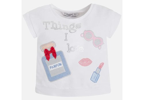 Mayoral T-shirt met open rug & strass