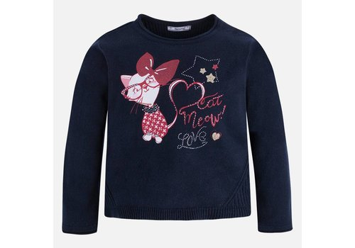 Mayoral Sweater with Strass Girl